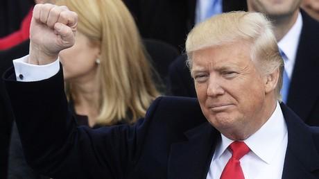 US-Präsident Donald Trump bei der Amtseinführung in Washington.