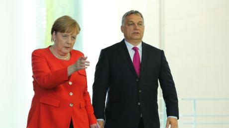 Nicht die allerbesten Freunde: Orban und Merkel Anfang Juli in Berlin