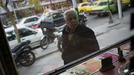 Symbolbild: Wechselstube in Teheran, Iran, 2. Dezember 2014.