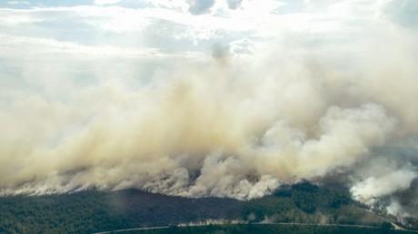 Waldbrände in Ljusdal, Schweden.