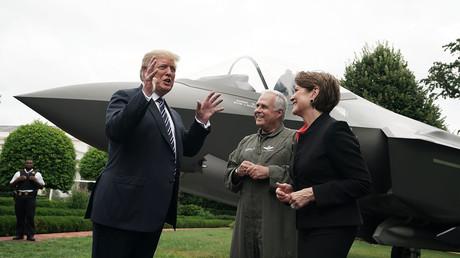 US-Präsident Donald Trump während der Produktvorführung