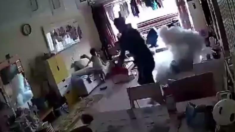 Wachsamer Hund warnt Familie, bevor Elektro-Tretroller beim Laden im Wohnzimmer explodiert