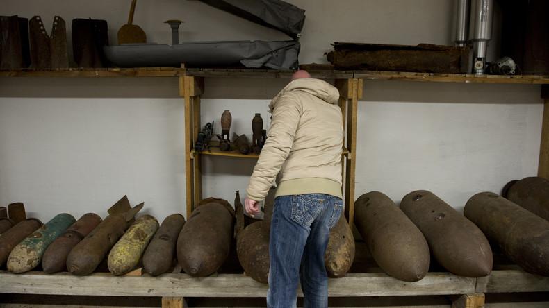 Niedrigwasser der Elbe legt Weltkriegsmunition frei