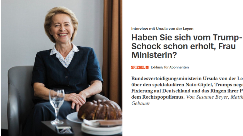 Vom Spiegel hofiert: Ursula von der Leyen auf dem Weg ins Kanzleramt?