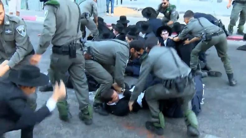 Israel: Ultra-orthodoxe Juden kollidieren bei Protest gegen Militärgesetz mit der Polizei