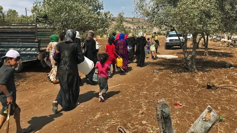 Syrien: Erneute Flüchtlingswelle – diesmal in die andere Richtung (Video)