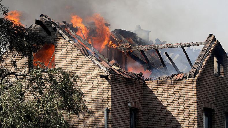An ICE-Strecke greifen Flammen blitzschnell auf Wohnhäuser über - Suche nach Ursachen beginnt