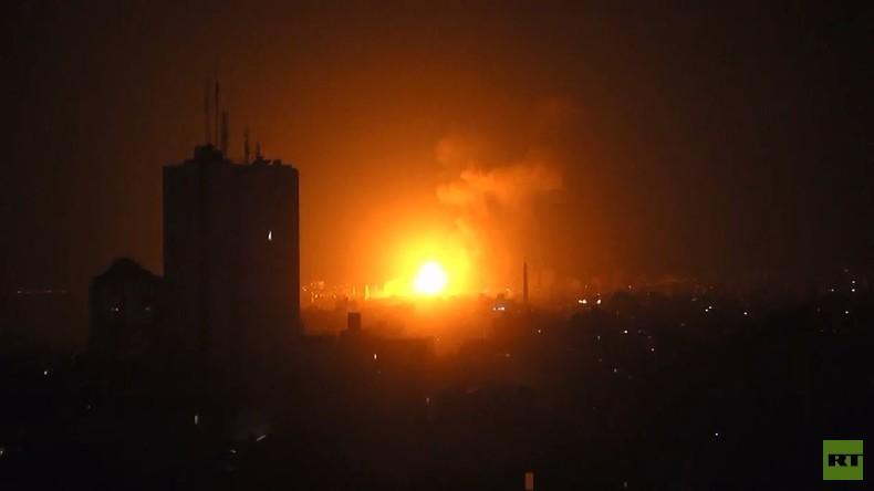 Palästina: Israelische Luftangriffe über Gaza