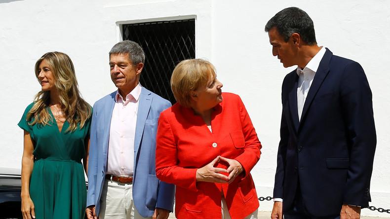 Angela Merkel trifft Spaniens Regierungschef Pedro Sánchez