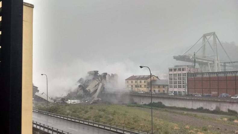 Überlebende aus Trümmern der Autobahnbrücke in Genua gezogen