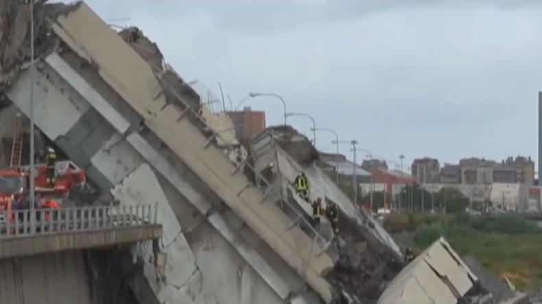 Live aus Italien: Offenbar Dutzende Tote nach Einsturz vierspuriger Autobahnbrücke