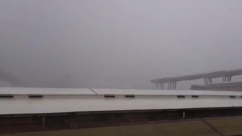 Horror-Moment in Italien: Vierspurige Autobahnbrücke stürzt ein und reißt Menschen in den Tod