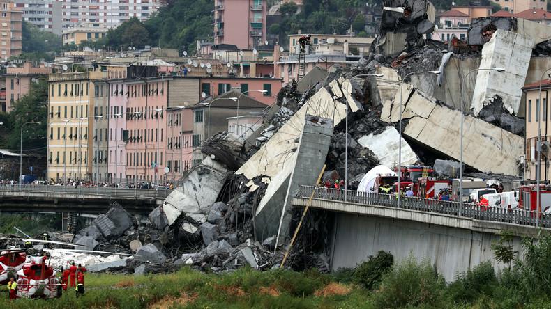 Italien: Mindestens 35 Tote bei Einsturz einer Autobahnbrücke in Genua (Fotos, Videos)
