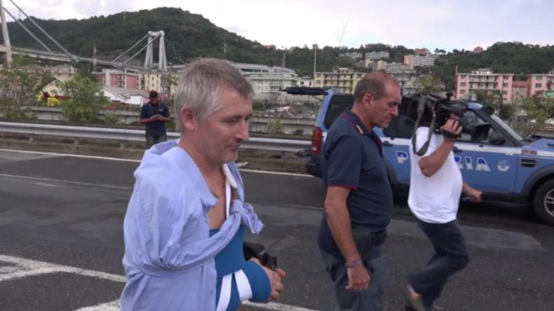 Die Tragödie auf der Morandi-Brücke: Dieser Mann überlebte auf wundersame Weise in Genua