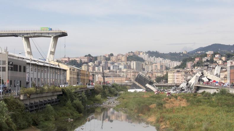 Ursachensuche nach verheerendem Brücken-Einsturz in Genua