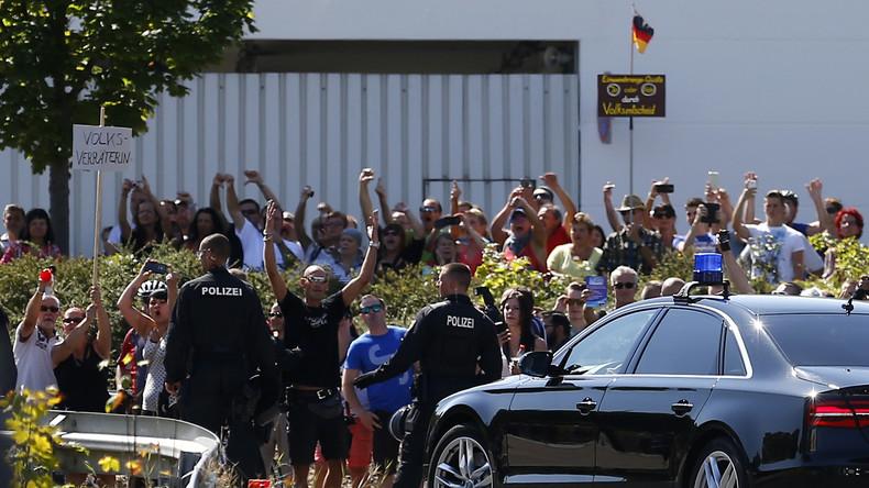 Schwieriges Terrain: Bundeskanzlerin Merkel besucht Sachsen