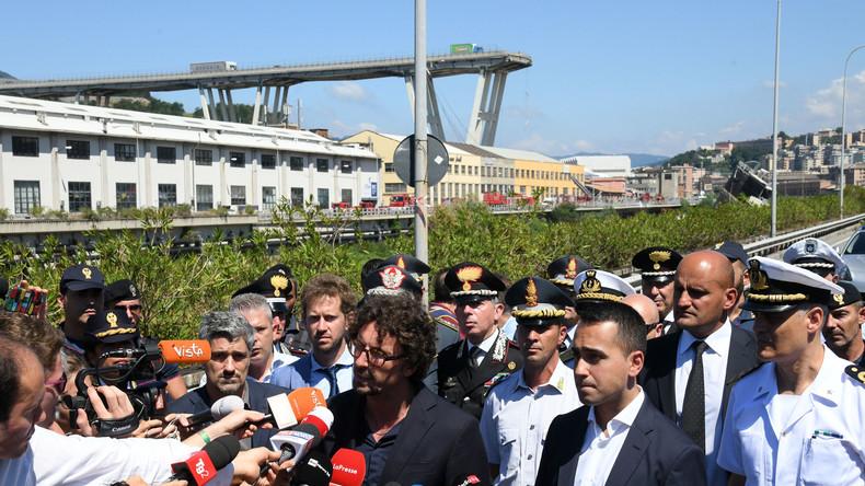Brückeneinsturz in Genua: Auf die Katastrophe folgen Schuldzuweisungen und Abrechnungen
