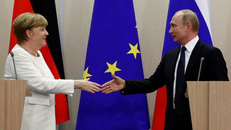 Video: Treffen zwischen Angela Merkel und Wladimir Putin