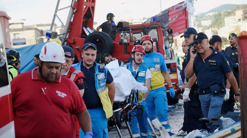 Italienische Behörden bestätigen 43 Todesopfer nach Brückeneinsturz in Genua