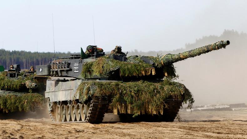 """Deutschland bereitet sich auf """"Speerspitze"""" vor und schickt über 100 Panzer an Grenze zu Russland"""