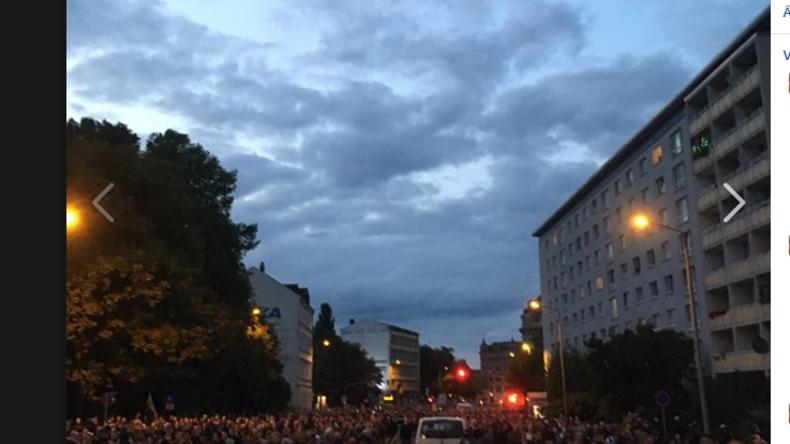 Chemnitz: Verletzte bei Protesten und Ausschreitungen am Montagabend