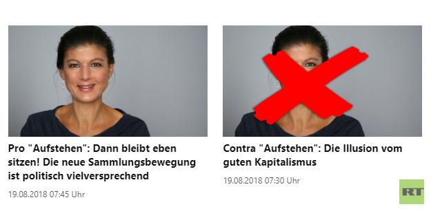 Der Tagesspiegel über RT Deutsch und #aufstehen – Ein Fall für Fielmann
