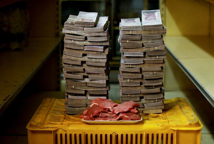 Ein Kilogramm Fleisch kostet 9.500.000 Bolivars, das entspricht 1,45 US-Dollar.