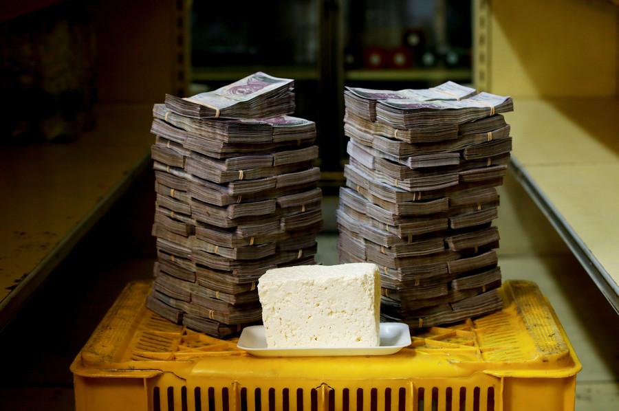 Ein Kilo Käse kostet 7.500.000 Bolivars, das entspricht 1,14 US-Dollar.