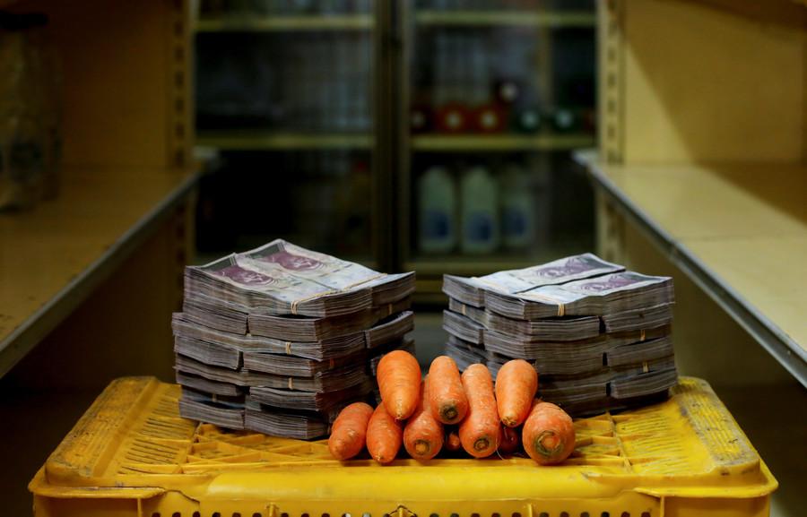 Ein Kilo Karotten kostet 3.000.000 Bolivars, das entspricht 0,46 US-Dollar.