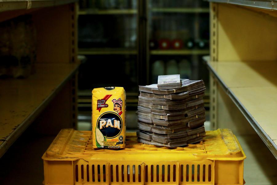 Ein Kilogramm Maismehl kostet 2.500.000 Bolivars, das entspricht 0,38 US-Dollar.