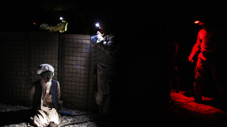 Gefangener Afghane nach US-Kampf gegen Taliban, Helmand Provinz, 7. November 2010.