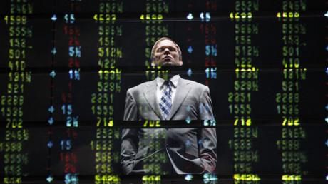 Schauspieler Norbert Leo Butz, der den ehemaligen Enron-Präsidenten Jeffrey Skilling darstellt, tritt bei einer Generalprobe des Stücks