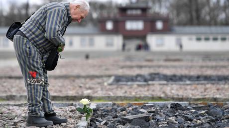 Ein ehemaliger sowjetischer Soldat und Buchenwald-Häftling am 11. April 2017  - Tag der Befreiung des Konzentrationslagers.