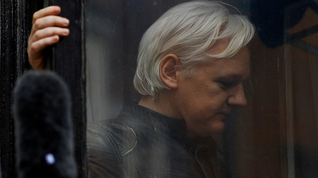 WikiLeaks-Gründer Julian Assange auf dem Balkon der ecuadorianischen Botschaft in London, 19. Mai 2017.