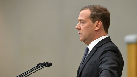Der russische Premierminister Dmitri Medwedew