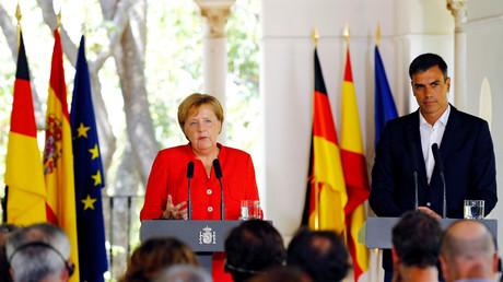 Bundeskanzlerin Angela Merkel sicherte dem spanischen Ministerpräsidenten Pedro Sánchez Deutschlands Unterstützung in Spaniens Bemühungen zu, den Flüchtlingszustrom von Marokko übers Mittelmeer nach Europa einzudämmen.