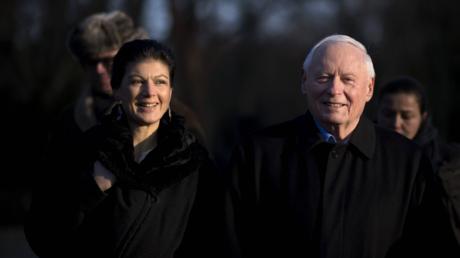 Für ein besseres Verhältnis zu Russland: Oskar Lafontaine und Sahra Wagenknecht im Januar 2018