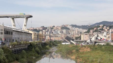Die Morandi-Brücke in der italienischen Hafenstadt Genua stürzte am 14. August ein.