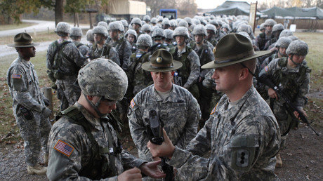 Rekruten der US-Armee während der Grundausbildung