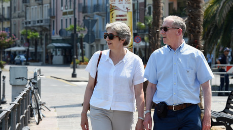 Theresa und Philip May in Desenzano del Garda, Italien,  29. Juli 2018