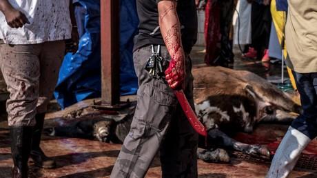 Das Unbekannte und Fremde hat uns schon immer Angst gemacht. Symbolbild: Rituelles Schächten in Lenasia bei Johannesburg.