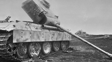 Abgeschossener deutscher Panzer bei Kursk. Datum der Aufnahme: 23. Juli 1943.