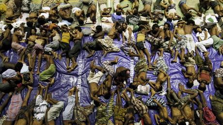 Gerettete Rohingya-Flüchtlinge in Lhoksukon, Aceh-Provinz, Indonesien, 11. Mai 2015.