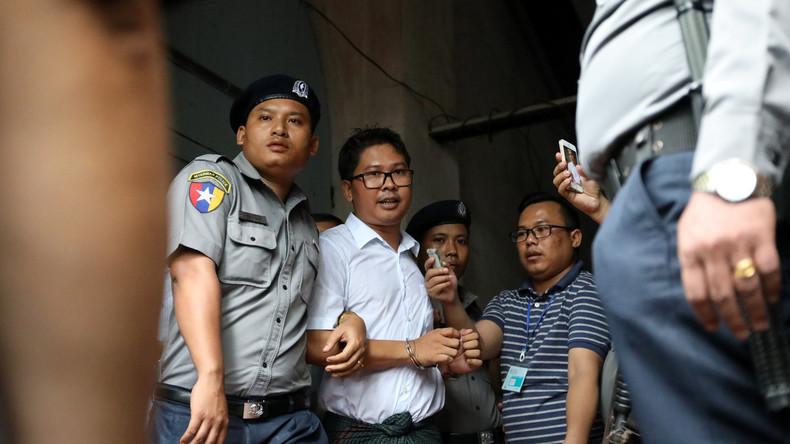 Besitz von sensiblen Dokumenten: Reuters-Journalisten in Myanmar zu sieben Jahren Haft verurteilt
