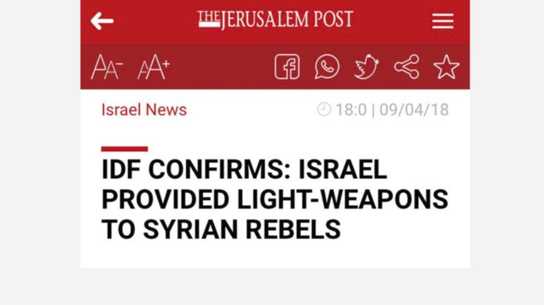 Artikel über Israels Lieferung von Waffen an Islamisten in Syrien fällt IDF-Zensur zum Opfer
