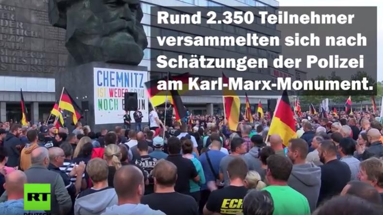 """Proteste von """"Pro Chemnitz"""" und Gegendemonstrationen – Erneut Tausende auf den Straßen"""