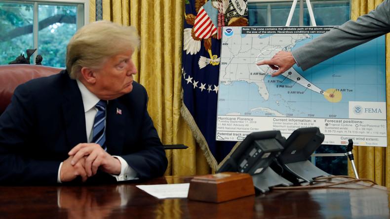 """Wegen Hurrikan """"Florence"""": USA evakuieren Militärstützpunkte an der Ostküste"""