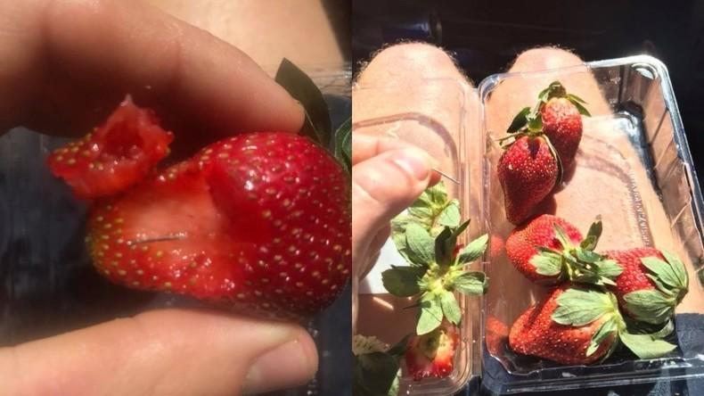 Erdbeeren mit versteckten Nadeln bringen Mann ins Krankenhaus – Massenhafter Rückruf aus Läden