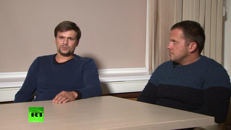 """""""Wir sind keine Agenten"""": Angebliche Skripal-Attentäter im Exklusiv-Interview"""