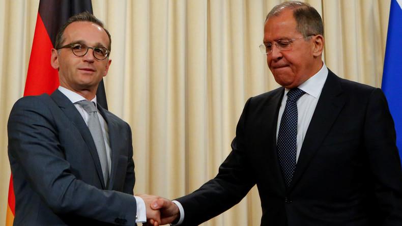 Video: Außenminister Lawrow und Maas geben gemeinsame Pressekonferenz